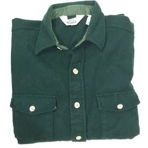 Vintage Woolrich Heavy Wool Blend Shirt Pockets